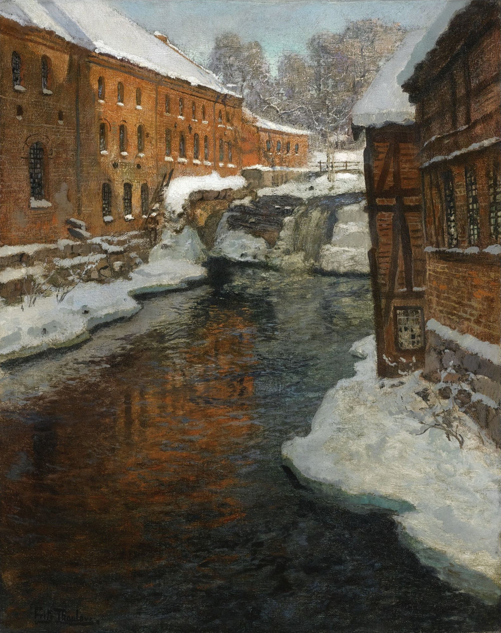 Akerselva+Frits_Thaulow_-_Fra_Akerselven